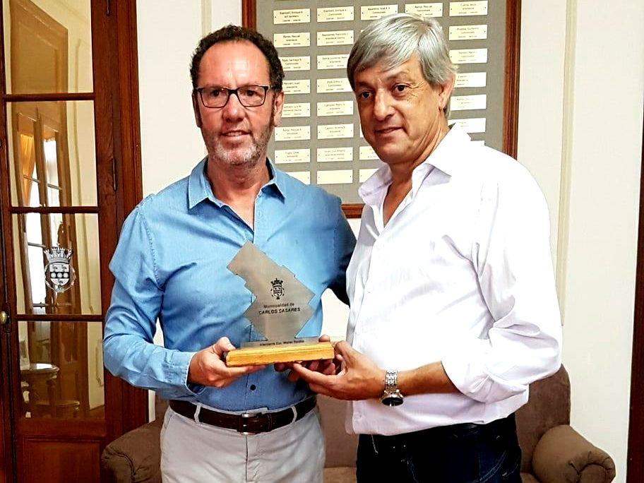 Torchio junto a Jorge Cortes- Foto Archivo