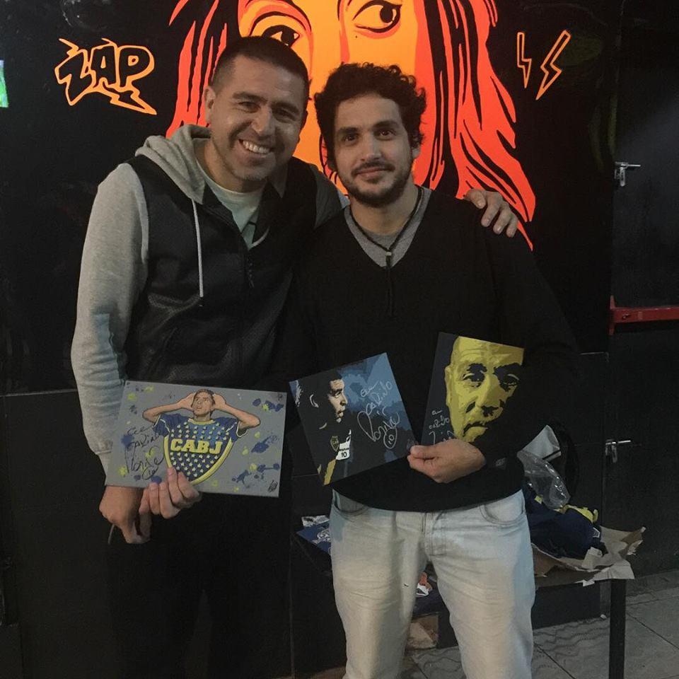Claudio Rengach con Roman Riquelme