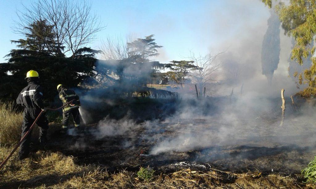 Incendio de pastos en Carlos Casares