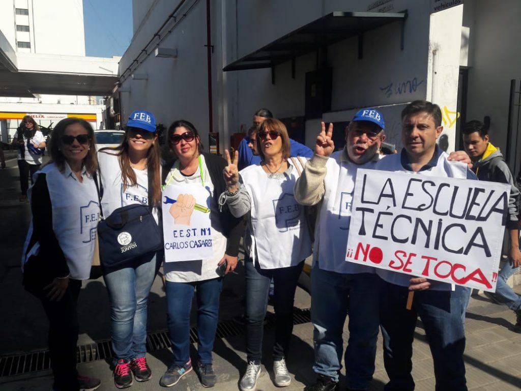 Docentes de Carlos Casares presentes en la marcha