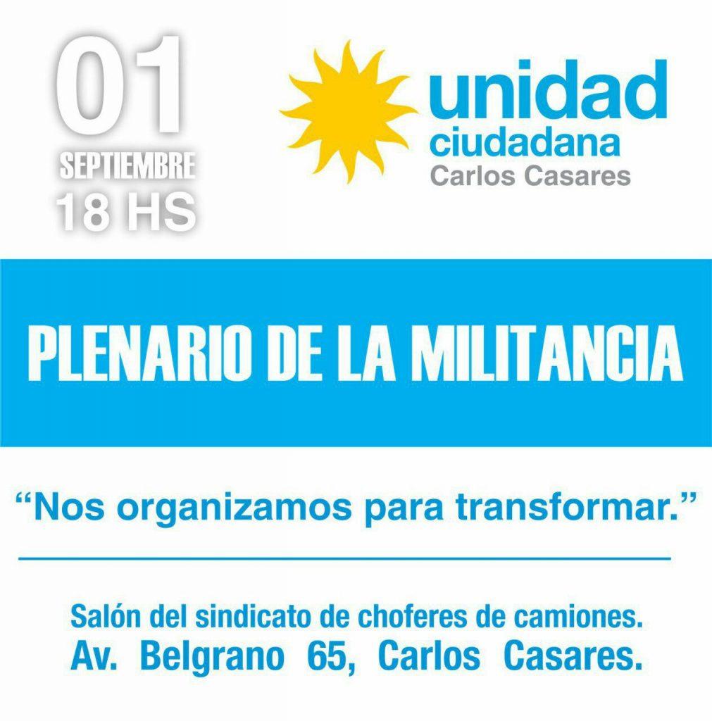 Plenario de la militancia en Carlos Casares