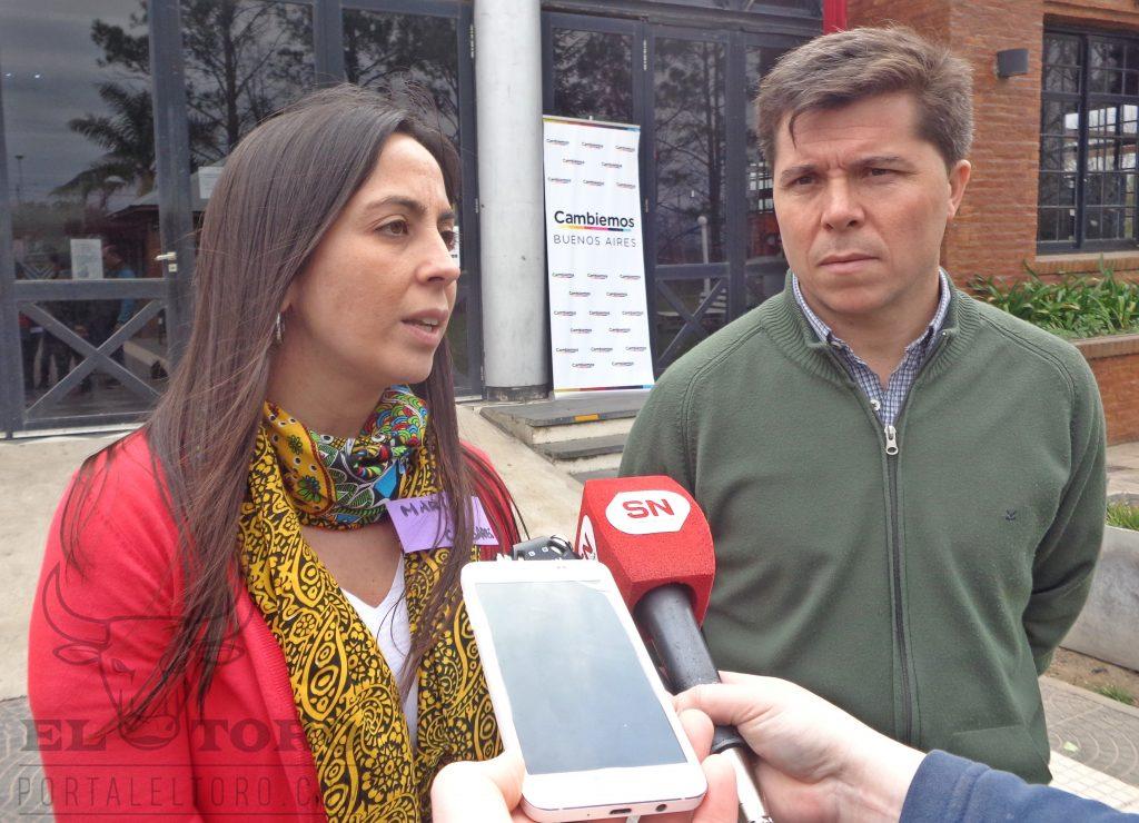 Maria Lucas y Andrés Aguirre Zabala concejales de Cambiemos Carlos Casares